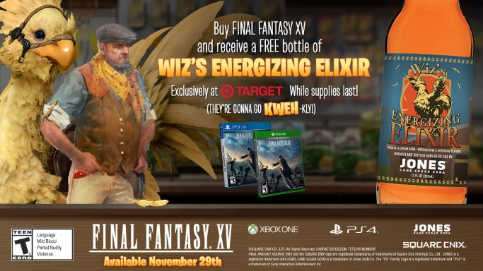 ELIXIR AVAILABLE FOR FREE AT TARGET WITH FINAL FANTASY XV PURCHASE
